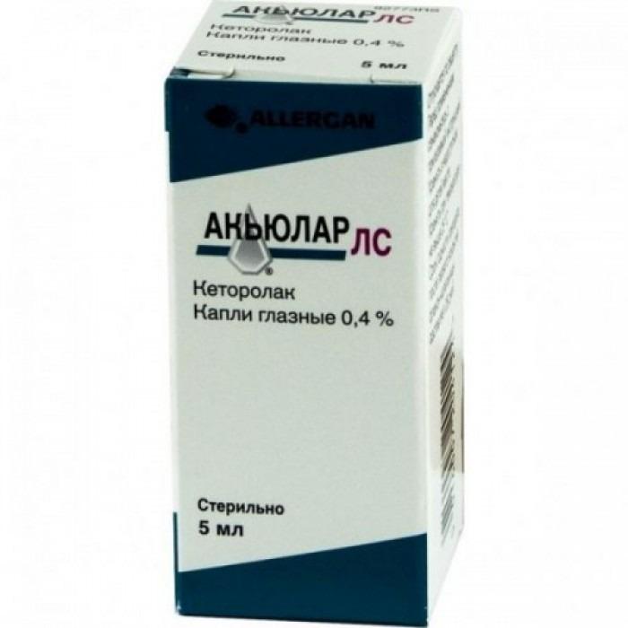 Akular LS (ketorolac) 0.4% 5ml eye drops