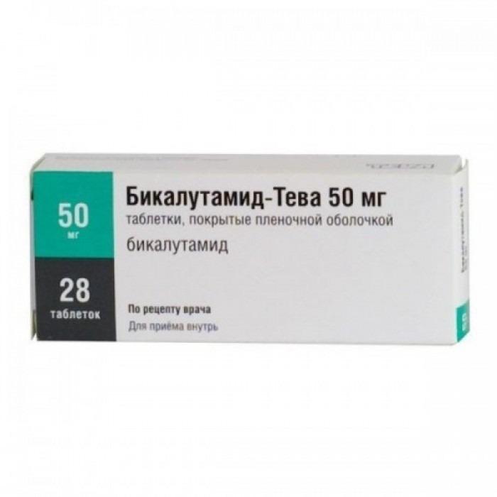 Bicalutamide Teva tablets 50mg 28 tablets, 150mg 28 tablets,
