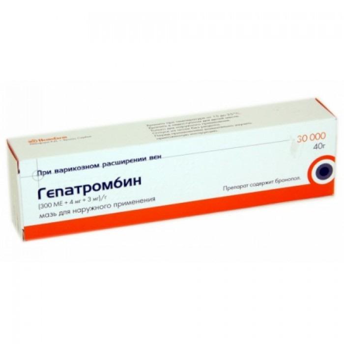 Hepatrombin (Allantoin + Heparin sodium + Dexpanthenol) cream, gel 30000 IU/g 40g cream, 50000 IU/g 40g cream, 30000 IU/g 40g gel, 50000 IU/g 40g gel,