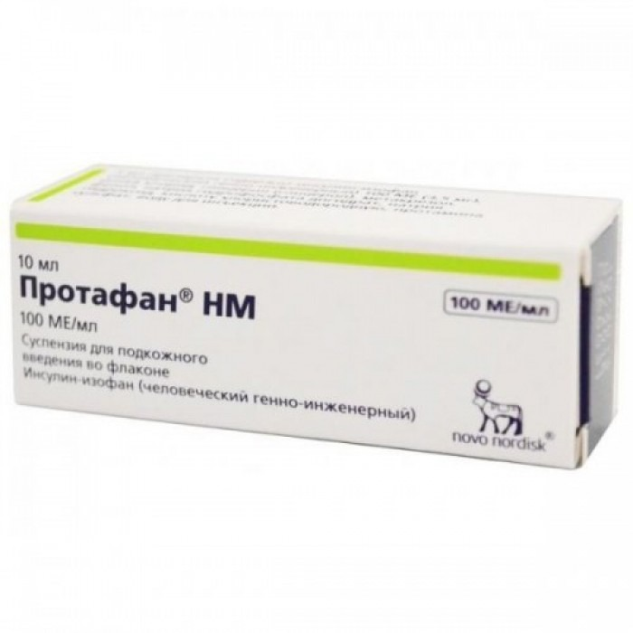 Insulin Protaphane HM (Insulin-isophane) cartridges, solution 100IU/ml 10ml solution, Penfill 100IU/ml 3ml 5 cartridges,