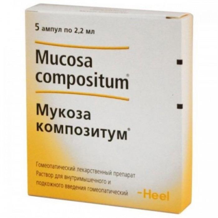 Mucosa compositum 2.2ml 5 vials