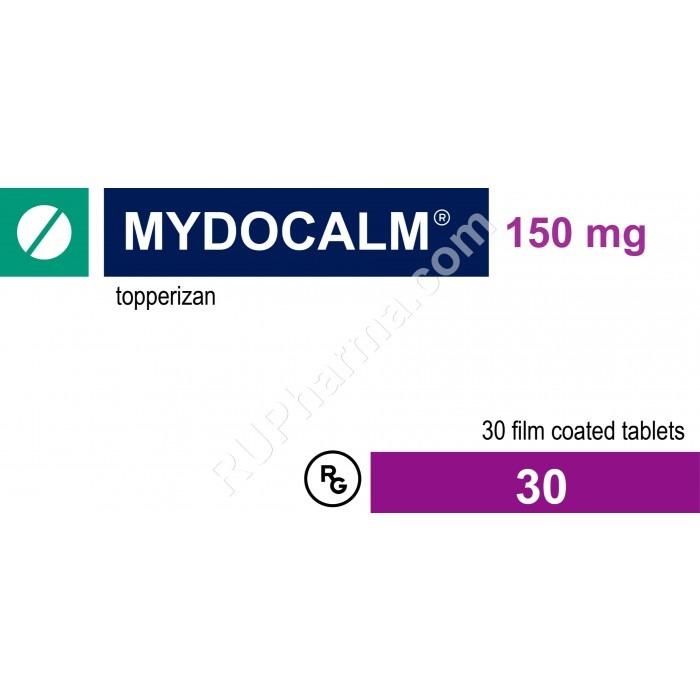 MYDOCALM (Tolperisone) 150 mg/tab, 30 tab/pack