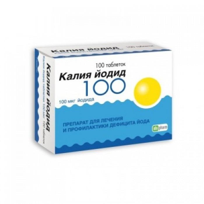 Potassium iodide tablets 100mcg 100 tablets, 200mcg 100 tablets,