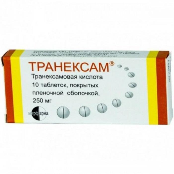 Tranexam (Tranexamic acid) tablets, ampoules 250mg 10 tablets, 250mg 30 tablets, 50mg/ml 5ml 10 vials,