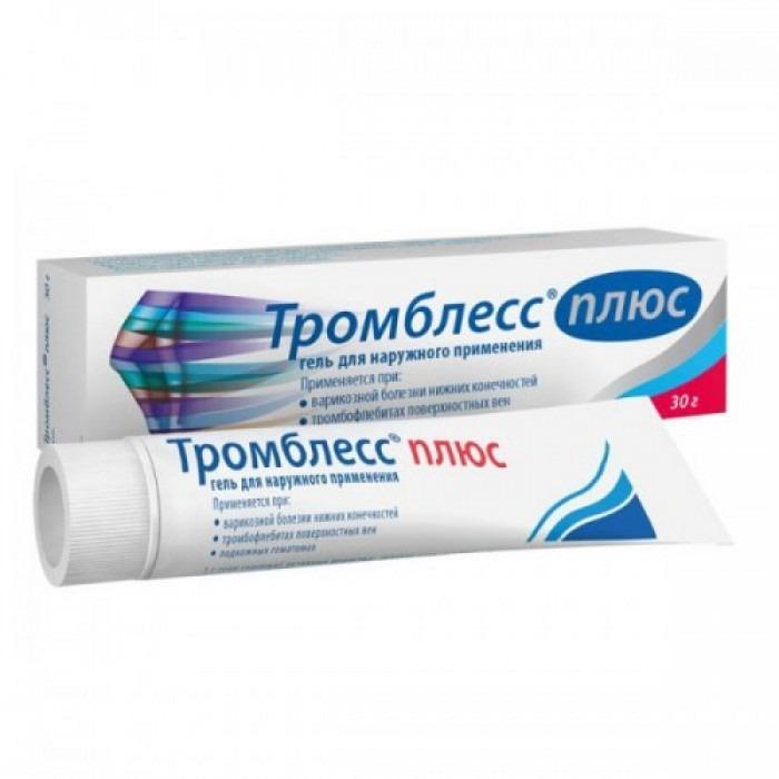 Trombless Plus 50g gel (Benzocaine + Heparin sodium + Dexpanthenol + Troxerutin)