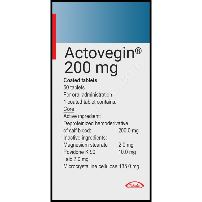 ACTOVEGIN® 200 mg/tab, 50 tabs/pack OR Injectables - Pharmaceutics