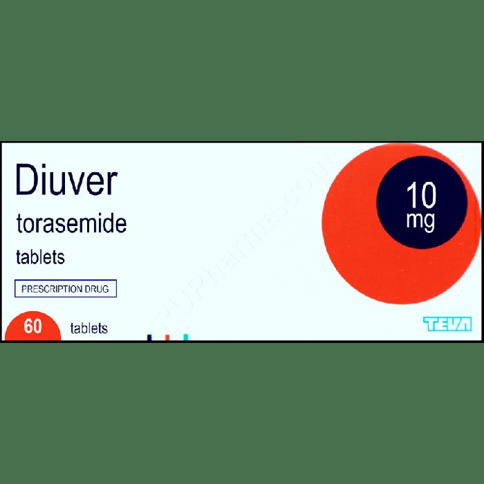 DIUVER® (Torasemid Demadex, Examid) 10 mg/tab, 60 tabs - Pharmaceutics