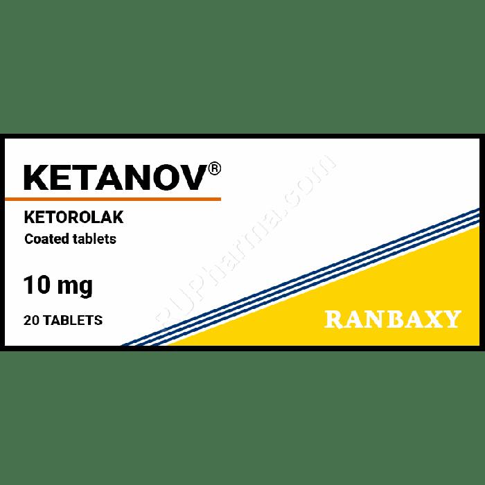 KETANOV® (Ketorolac, Toradol) 10 mg/tab, 20-100 tabs or Injectables - Pharmaceutics