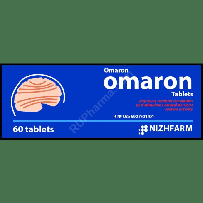 OMARON® (Piracetam+Cinnarizine) 425 mg/tab, 60 tabs - Pharmaceutics