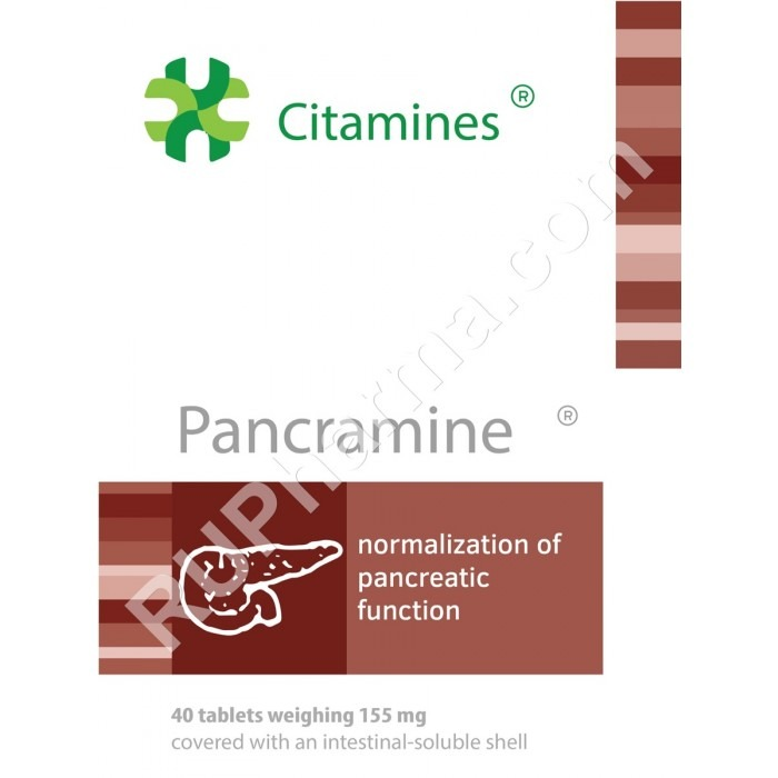 PANCRAMIN®, (Pancreas bioregulator) 155 mg/ tab, 40 tabs - Pharmaceutics