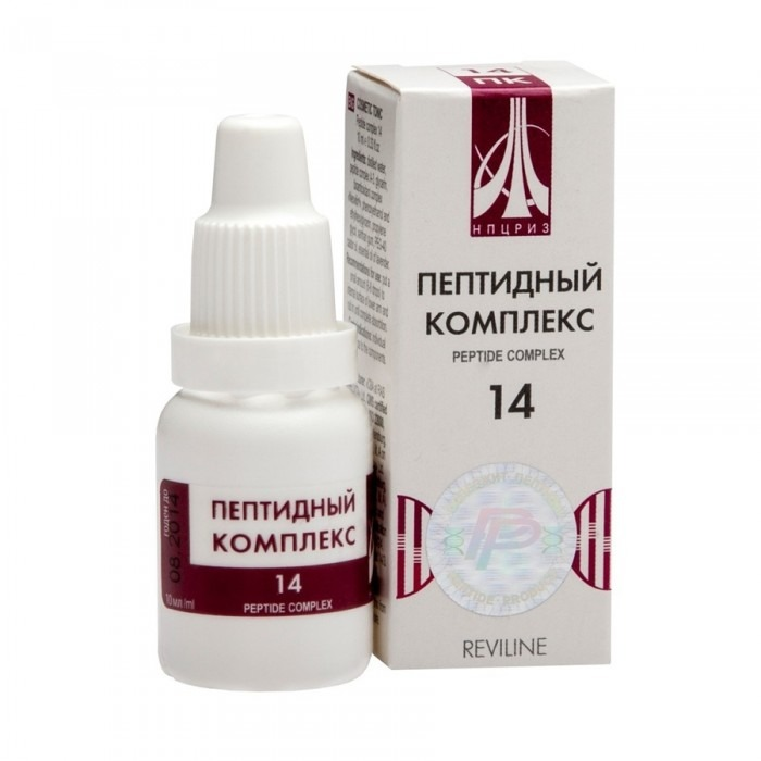 PEPTIDE COMPLEX 14 for veins, 10ml/vial - Pharmaceutics